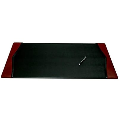 Dacasso 34 x 20 Desk Pad with Side Rails; Leather, Burgundy (DCSS349)