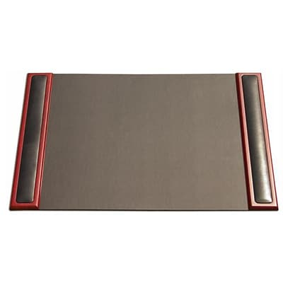 Dacasso 25 x 17 Desk Pad with Side Rails; Wood and Leather (DCSS149)