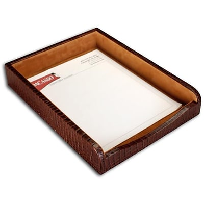 Dacasso A2001 Crocodile Embossed Front Load Letter Tray; Leather (DCSS035)