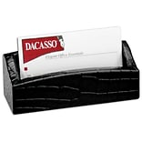 Dacasso Croc-Emboss Lthr Bus Card Holder