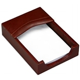 Dacasso Memo Holder Mocha Top Grain Lthr
