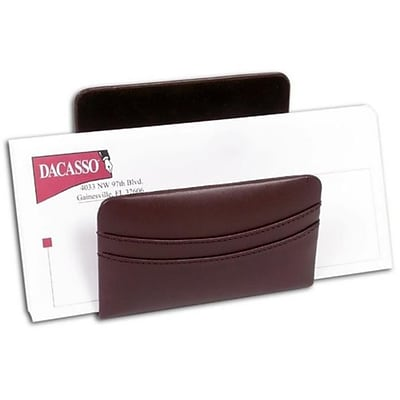 Dacasso A3408 Chocolate Brown Leather Letter Holder (DCSS250)