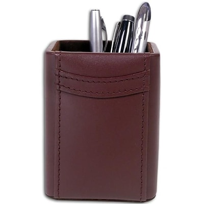 Dacasso A3410 Square Leather Pencil Cup