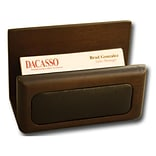 Dacasso Wood & Leather Business Card Holder