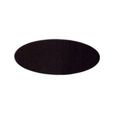 Dacasso 17 x 14 Oval Conference Table Pad; Leather, Black (DCSS337)