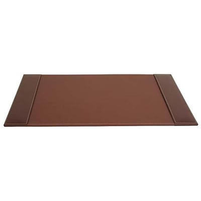 Dacasso P3202 25 x 17 Desk Pad with Side Rails; Rustic Leather (DCSS151)
