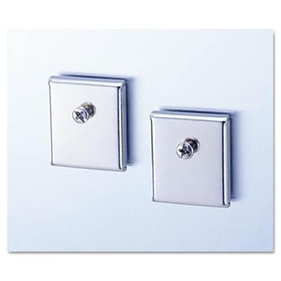 Universal Cubicle Accessory Mounting Magnets; Silver, Set of 2 (AZERTY9032)