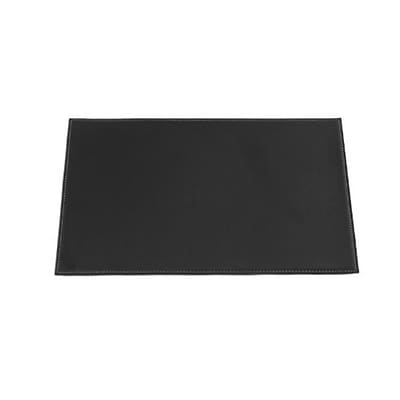 Dacasso 17 x 12 Rectangular Placemat Leatherette; Black (DCSS328)
