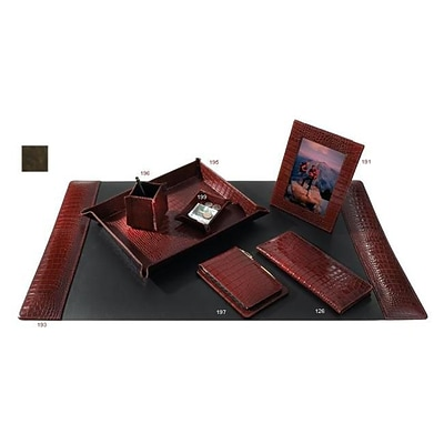 Raika Letter Tray; Leather, Brown (RKA3271)