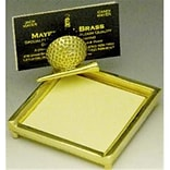 Golf Post-It Note Holder w/Card Holder