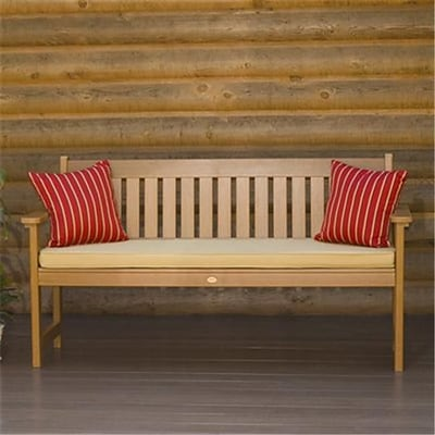Highwood Lehigh Bench; Recycled Eco-Friendly Synthetic Wood, Toffee (HGWD079)
