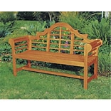 Achla Wood Lutyens Bench Natural Oil