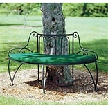 Achla Tree Bench in Blk Powder Coated