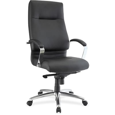 Lorell RTL156660 Modern Executive High-Back Leather Chair