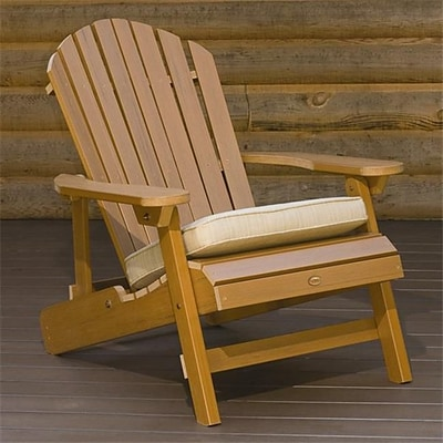 Highwood Synthetic Wood Folding and Reclining King-Size Adirondack Chair; Toffee, HGWD106