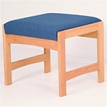 Wooden Mallet Single Bench; Blue and Mahog