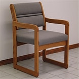 Valley Guest Chair in Med Oak Charcoal Grey