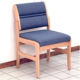Valley Armless Guest Chair Med Oak Leaf Grn