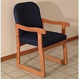 Prairie Guest Chair in Med Oak/Blk