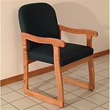 Prairie Guest Chair in Med Oak Arch Green,