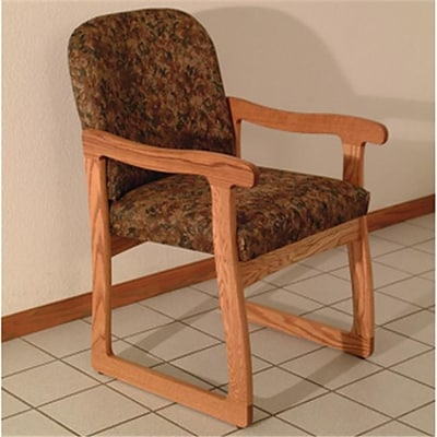 Wooden Mallet DW7;1MOWE Prairie Guest Chair in Medium Oak , Watercolor Earth