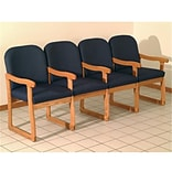 Prairie Chair w/Center Arms Oak Arch Blu