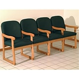 Prairie Chair w/Center Arms Arch Grn & Oak