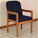 Prairie Guest Chair in Med Oak/Blue