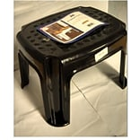 YBM Home 0305;bl Plastic Step Stool, Black