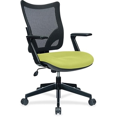 Lorell S8 Task Mesh Back Task Chair, Fixed Arms, Green (RTL156554)