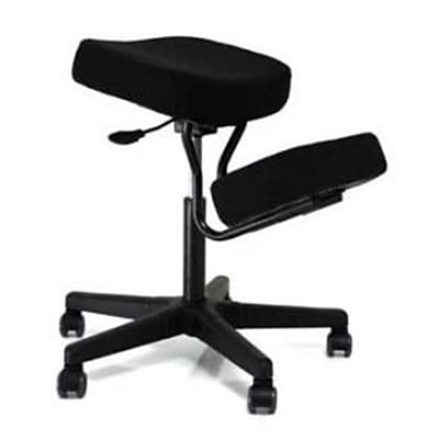 Jobri Solace Plus JBR188 Ergonomic Height Adjustment Kneeling Chair; Black