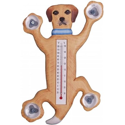 Songbird Essentials Climbing Yellow Lab Small Window Thermometer