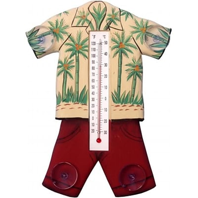 Songbird Essentials Hawaiin Shirt Small Window Thermometer (GC17022)
