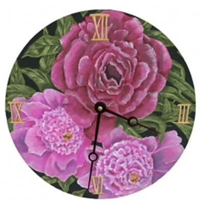 Lexington Studios Peonies 18 Round Clock (LXNGS205)