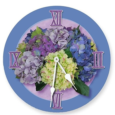 Lexington Studios Hydrangea 18 Round Purple Clock (LXNGS309)