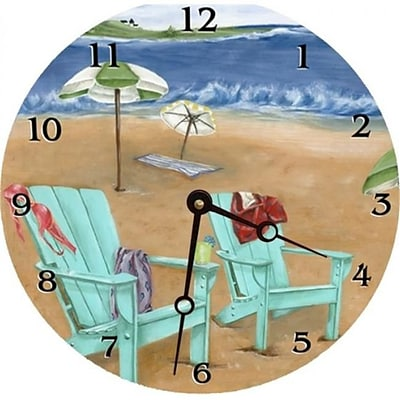 Lexington Studios Skinny Dipping Round Clock (LXNGS157)