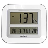 LCD Wall Clock w/Temperature/Date/Humidity