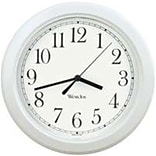 Westclox 8.5 White Round Wall Clock