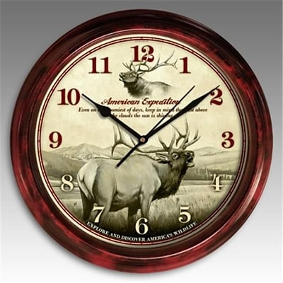 American Expedition Signature Series Elk Clock (ID591)