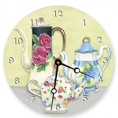 Lexington Studios 23087R China Teapots 10in Round Clock (LXNGS002)
