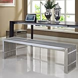 Modway Gridiron Stainless Steel Bench (Set of 2)