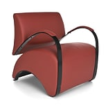 OFM Recoil Vinyl Lounge Chair; Red