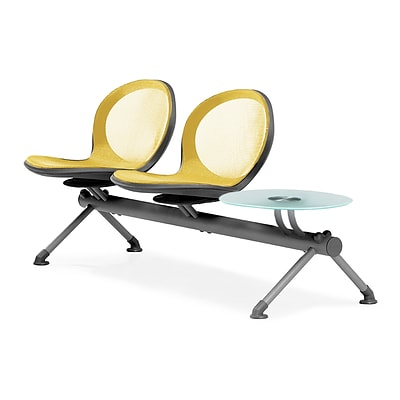 OFM Net Series 2 Seats and 1 Table Beam, Yellow (NB-3G-YELLOW)