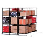 X5 Lite Three FourShelf Units 48x24 Blk