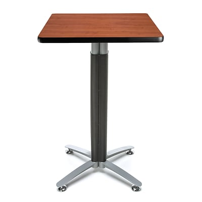 OFM 24 Square Cafe Table with Cherry Laminate Table Top and Metal Mesh Base (CMT24SQ-CHY)