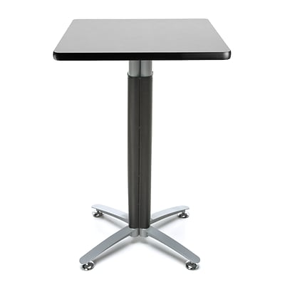 OFM 24 Square Cafe Table with Gray Nebula Laminate Table Top and Metal Mesh Base (CMT24SQ-GRYNB)
