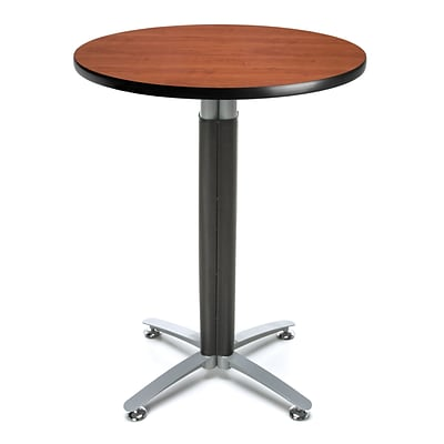 OFM 30 Round Cafe Table with Cherry Laminate Table Top and Metal Mesh Base (CMT30RD-CHY)