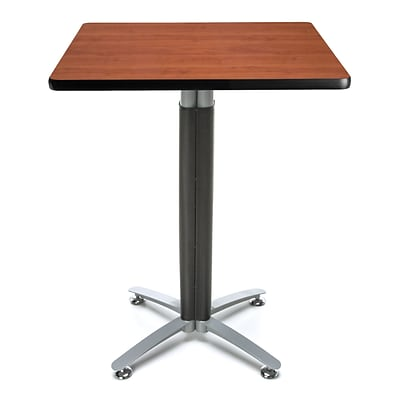 OFM 30 Square Cafe Table with Cherry Laminate Table Top and Metal Mesh Base (CMT30SQ-CHY)