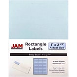 JAM Paper® Mailing Address Labels, 1 x 2 5/8, Baby Blue, 120/pack (4052894)
