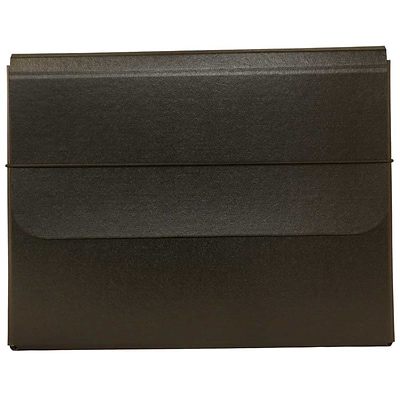 JAM Paper® Strong Thick Portfolio Carrying Case with Elastic Band Closure - 10 x 1 1/4 x 13 1/4 - Black - Sold Individually